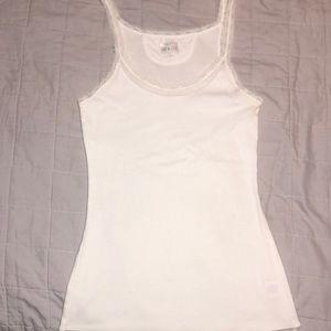 White lace converse tank top